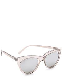 Gafas de sol plateadas de Le Specs