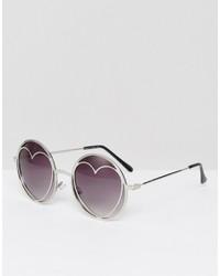 Gafas de sol plateadas de Missguided