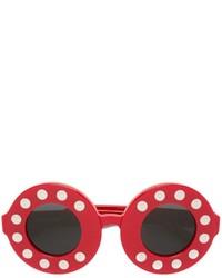 Gafas de Sol Rojas de Linda Farrow