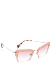 Gafas de sol rosadas de Miu Miu