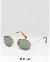 Gafas de sol verde oliva de Reclaimed Vintage