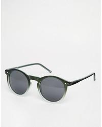 Gafas de sol verde oscuro de Asos