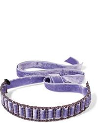Gargantilla de terciopelo violeta claro de Erickson Beamon