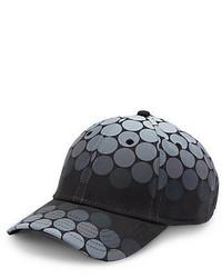 Gorra de béisbol a lunares negra