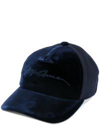 Gorra de béisbol azul marino de Giorgio Armani