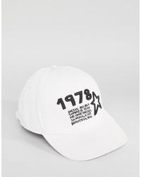 Gorra de Béisbol Blanca de Diesel