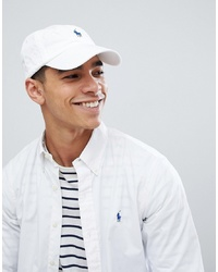 Gorra de béisbol blanca de Polo Ralph Lauren