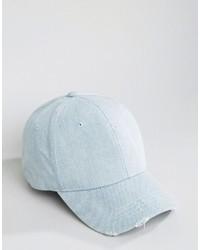 Gorra de béisbol celeste de Asos
