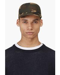 Gorra de béisbol de camuflaje verde oscuro de Camo