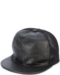 Gorra de béisbol de cuero de estrellas negra de Givenchy