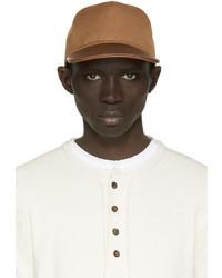 Gorra de béisbol de cuero marrón de Balmain