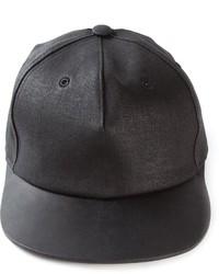 Gorra de béisbol de cuero negra de Rick Owens