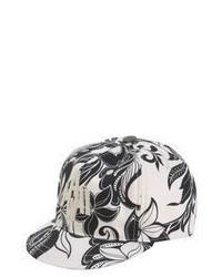 Gorra de Béisbol de Flores Blanca