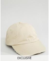Gorra de béisbol en beige de Reclaimed Vintage