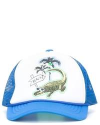 Gorra de béisbol en blanco y azul de Stella McCartney