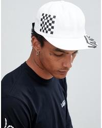 Gorra de béisbol en blanco y negro de Vans