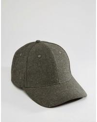 Gorra de béisbol en gris oscuro de Asos