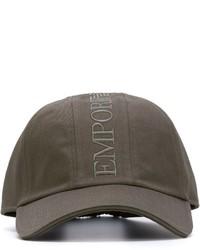 Gorra de béisbol en gris oscuro de Emporio Armani