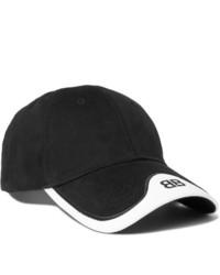 Gorra de béisbol en negro y blanco de Balenciaga