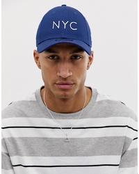 Gorra de béisbol estampada azul marino de New Era