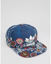 Gorra de béisbol estampada azul de adidas