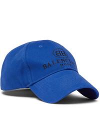 Gorra de béisbol estampada azul de Balenciaga