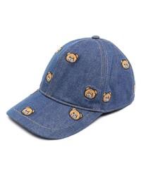 Gorra de béisbol estampada azul de Moschino