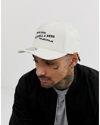 Gorra de béisbol estampada blanca de Mitchell & Ness