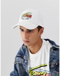 Gorra de béisbol estampada blanca de Tommy Jeans