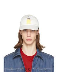 Gorra de béisbol estampada blanca de Versace
