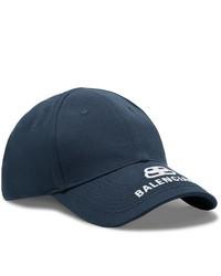 Gorra de béisbol estampada en azul marino y blanco de Balenciaga