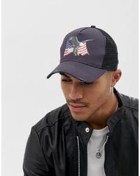 Gorra de béisbol estampada en gris oscuro de ASOS DESIGN