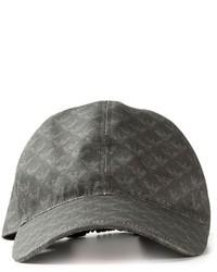 Gorra de béisbol estampada en gris oscuro de Emporio Armani