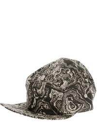 Gorra de béisbol estampada en gris oscuro de PAM