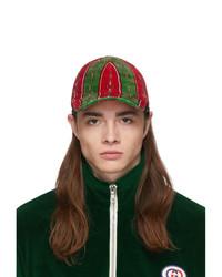 Gorra de béisbol estampada en multicolor de Gucci