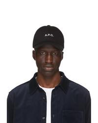 Gorra de béisbol estampada en negro y blanco de A.P.C.
