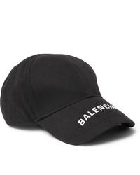 Gorra de béisbol estampada en negro y blanco de Balenciaga