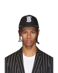 Gorra de béisbol estampada en negro y blanco de Burberry