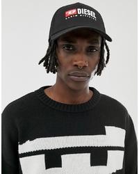 Gorra de béisbol estampada en negro y blanco de Diesel