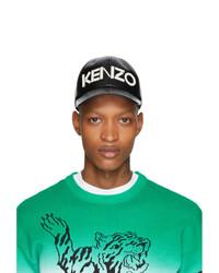 Gorra de béisbol estampada en negro y blanco de Kenzo