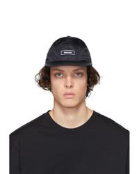 Gorra de béisbol estampada en negro y blanco de Moncler
