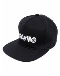 Gorra de béisbol estampada en negro y blanco de Moschino