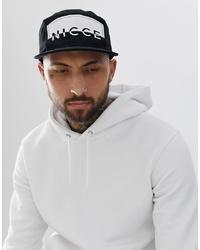 Gorra de béisbol estampada en negro y blanco de Nicce London