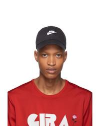 Gorra de béisbol estampada en negro y blanco de Nike