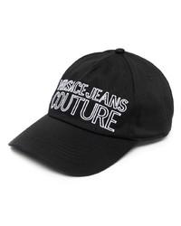 Gorra de béisbol estampada en negro y blanco de VERSACE JEANS COUTURE