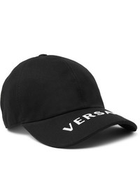 Gorra de béisbol estampada en negro y blanco de Versace