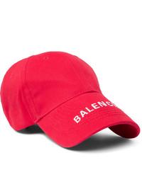 Gorra de béisbol estampada en rojo y blanco de Balenciaga