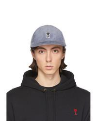 Gorra de béisbol estampada gris de AMI Alexandre Mattiussi