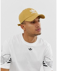 Gorra de béisbol estampada marrón claro de adidas Originals