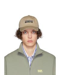 Gorra de béisbol estampada marrón claro de Martin Asbjorn
